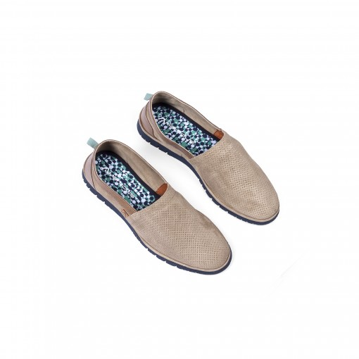 AMBER Perforated Suede Slip-On