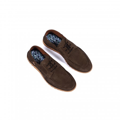 AMBER Suede Lace-Up Slippers