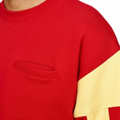 Sweat-shirt com mangas listradas