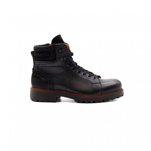 BORDER Lace-Up Boots
